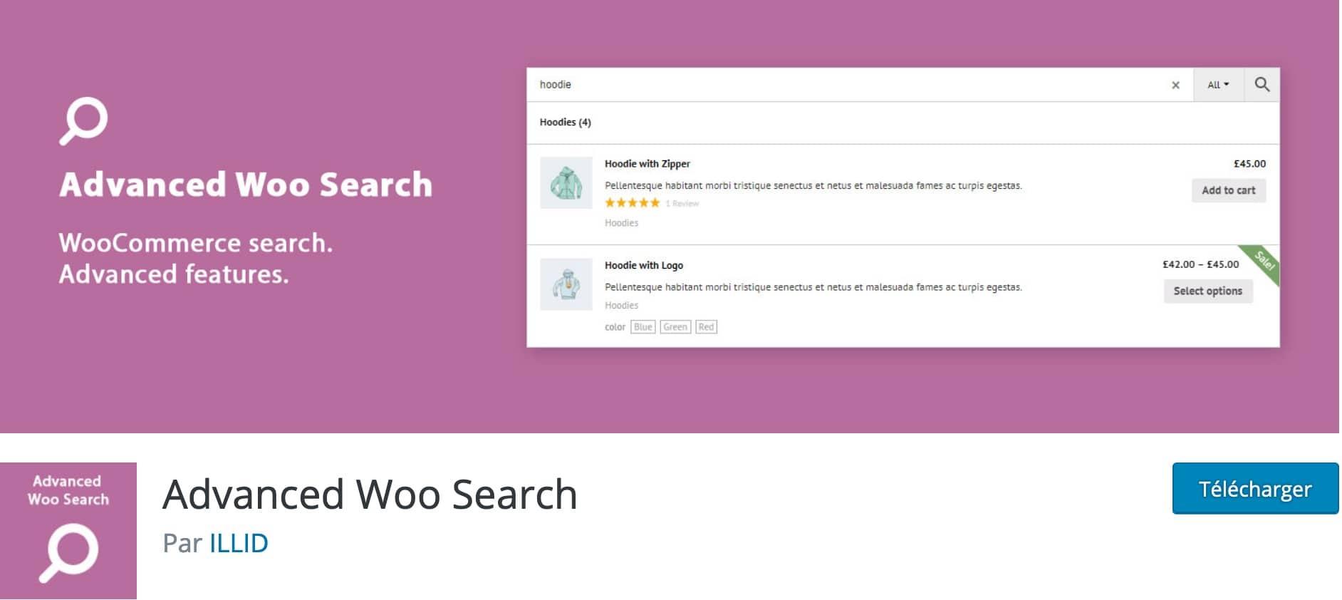 Advanced Woo Search, Plugin Gratuit Woocommerce WordPress