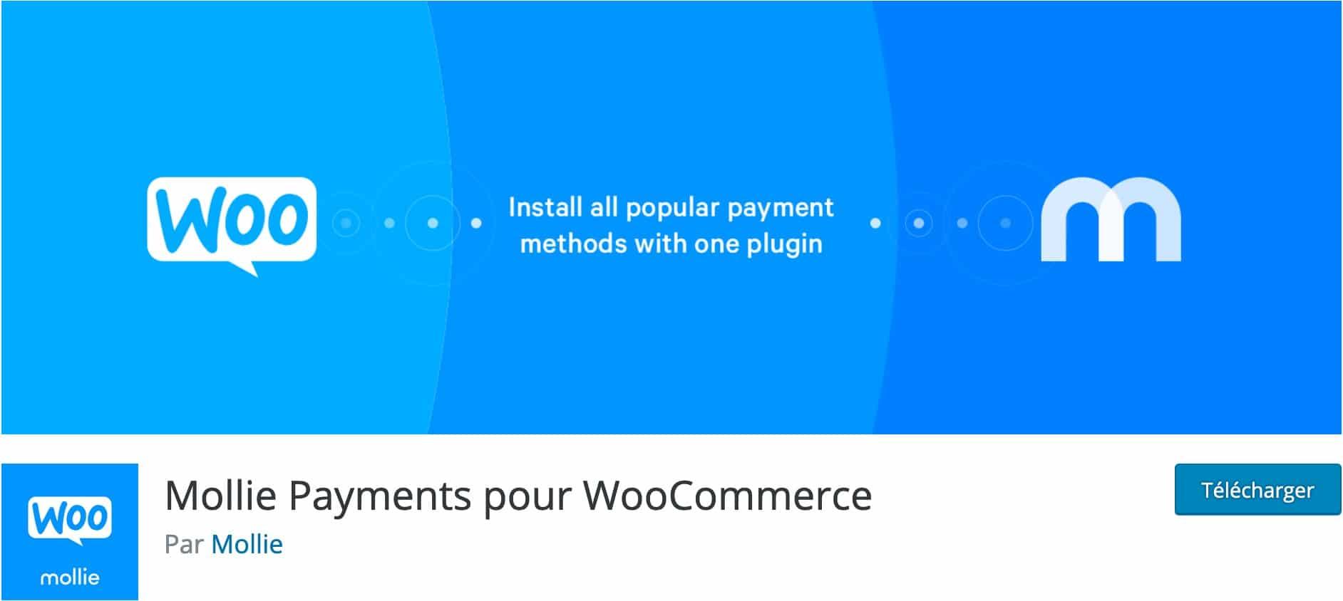 Mollie Payments pour WooCommerce, Plugin Gratuit Woocommerce WordPress