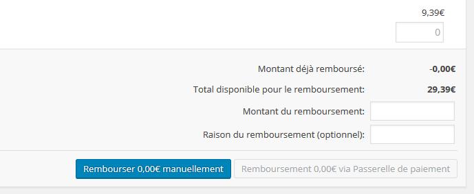 Remboursement Woocommerce