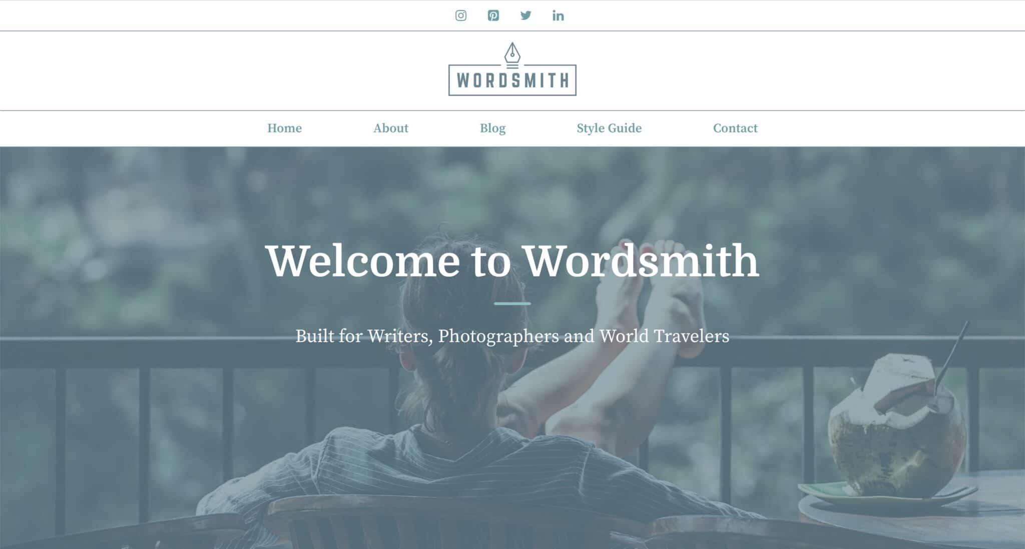Theme WordPress Blog Voyage 1