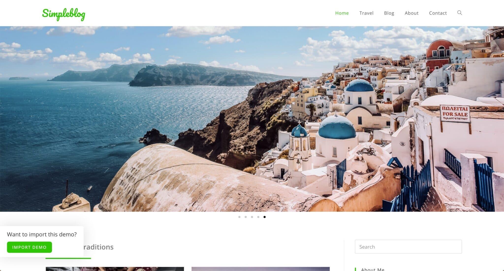 Theme WordPress Blog Voyage 3