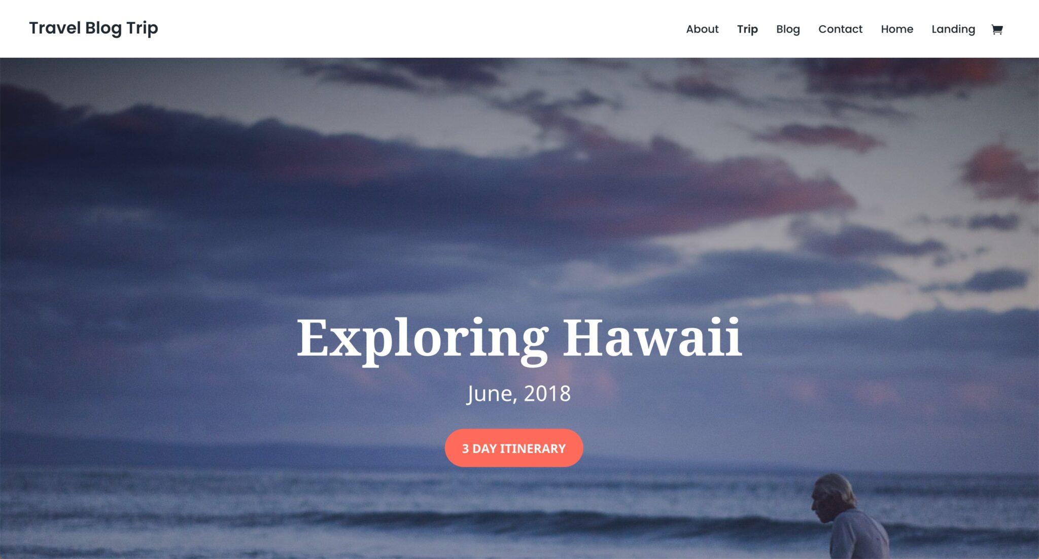 Theme WordPress Blog Voyage 4