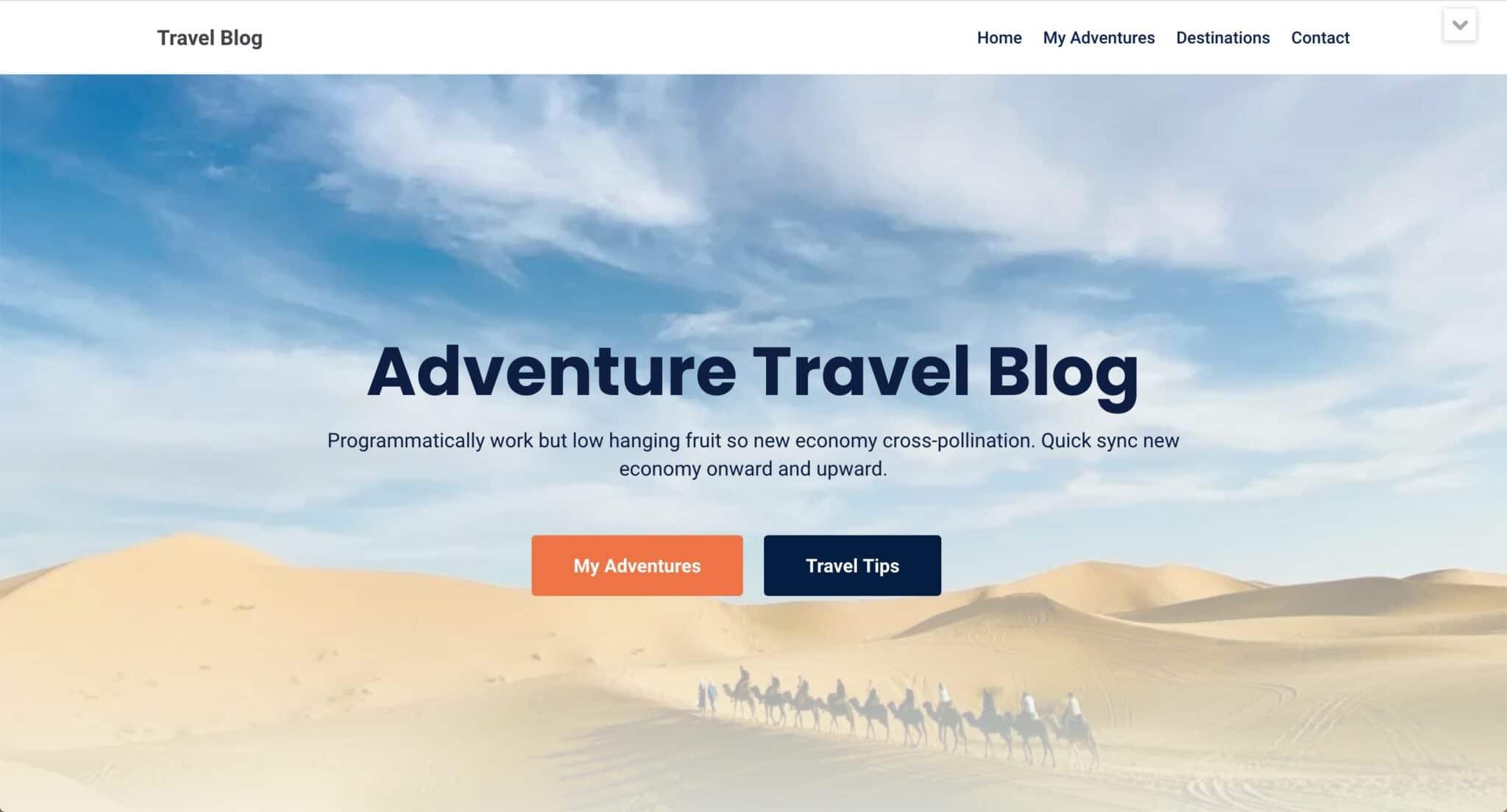 Theme WordPress Blog Voyage 5
