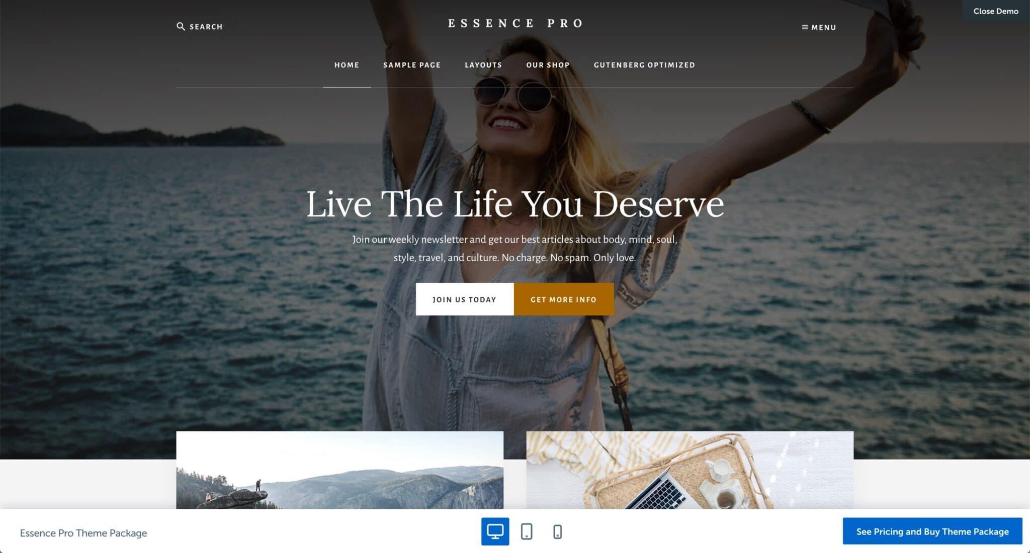 Theme WordPress Blog Voyage 6