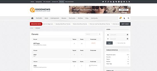 Goodnews Theme How To Setup Your Own Forum Using WordPress
