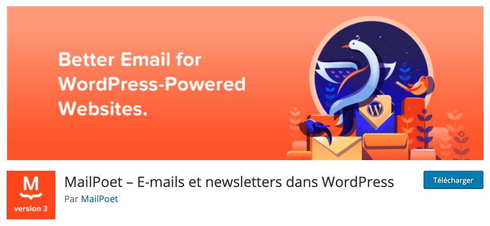 Plugin de newsletter Mailpoet3 Wpformation29