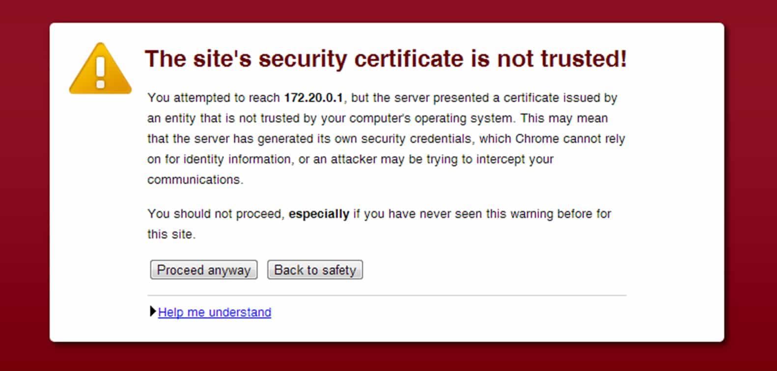Les navigateurs et les certificats de sécurité
