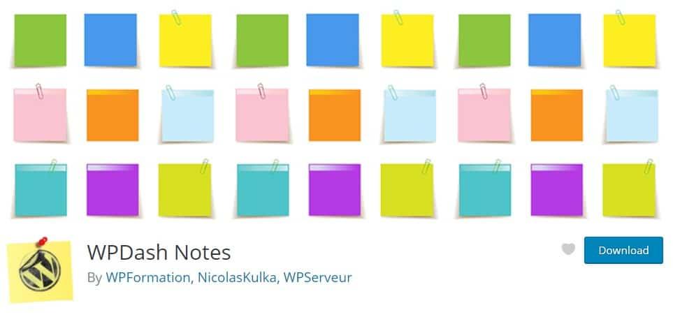 Plugin Wpdash Notes By Wpformation
