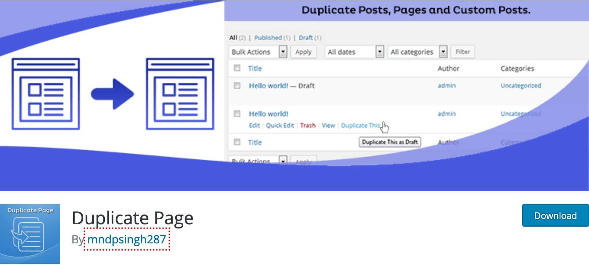 Plugin Dupliquer Article WordPress 12