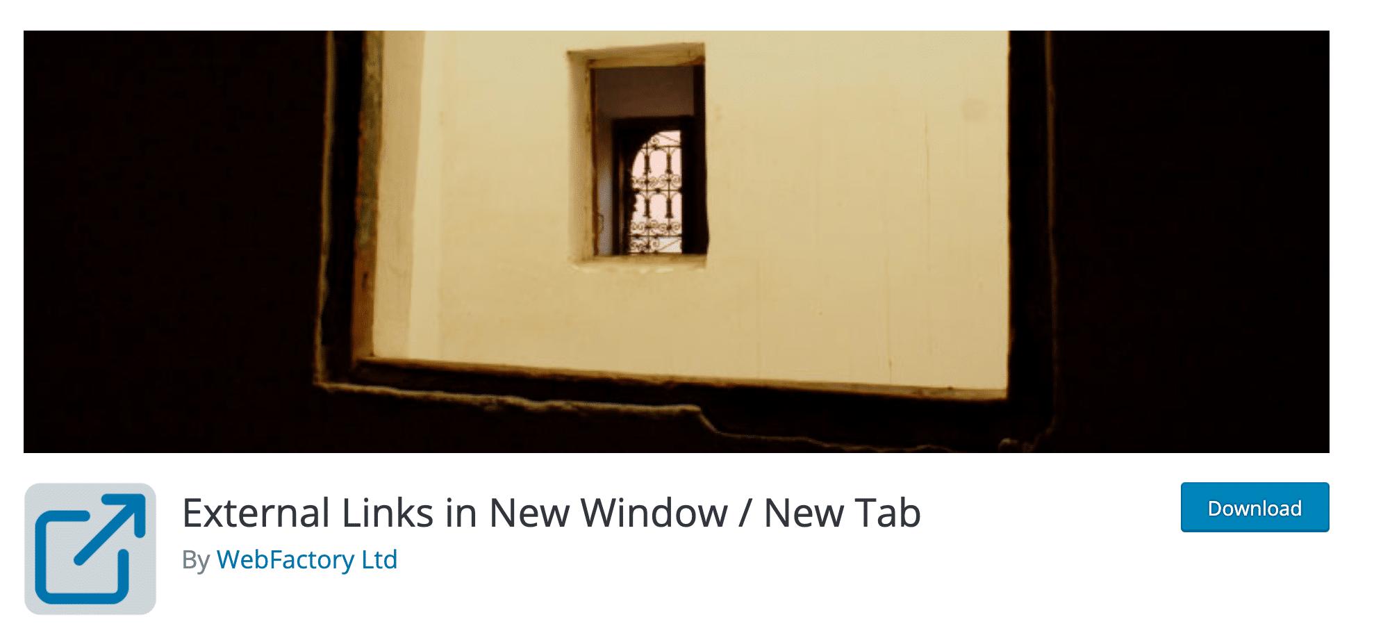 External Links In New Window : New Tab