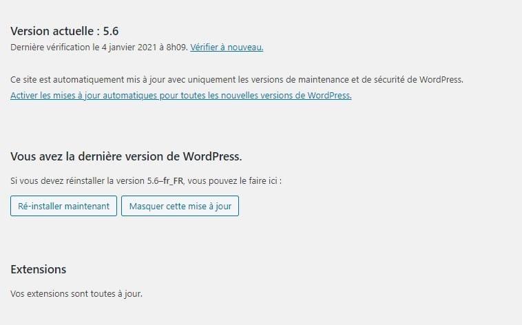 Mise A Jour Auto WordPress 56