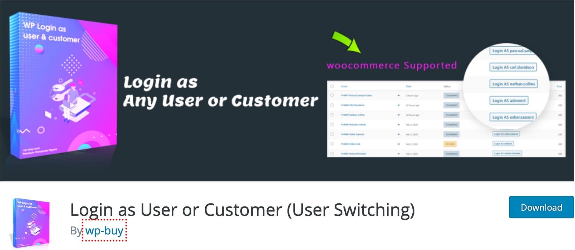 Plugin Se Connecter En Tant Que User Switching WordPress 2