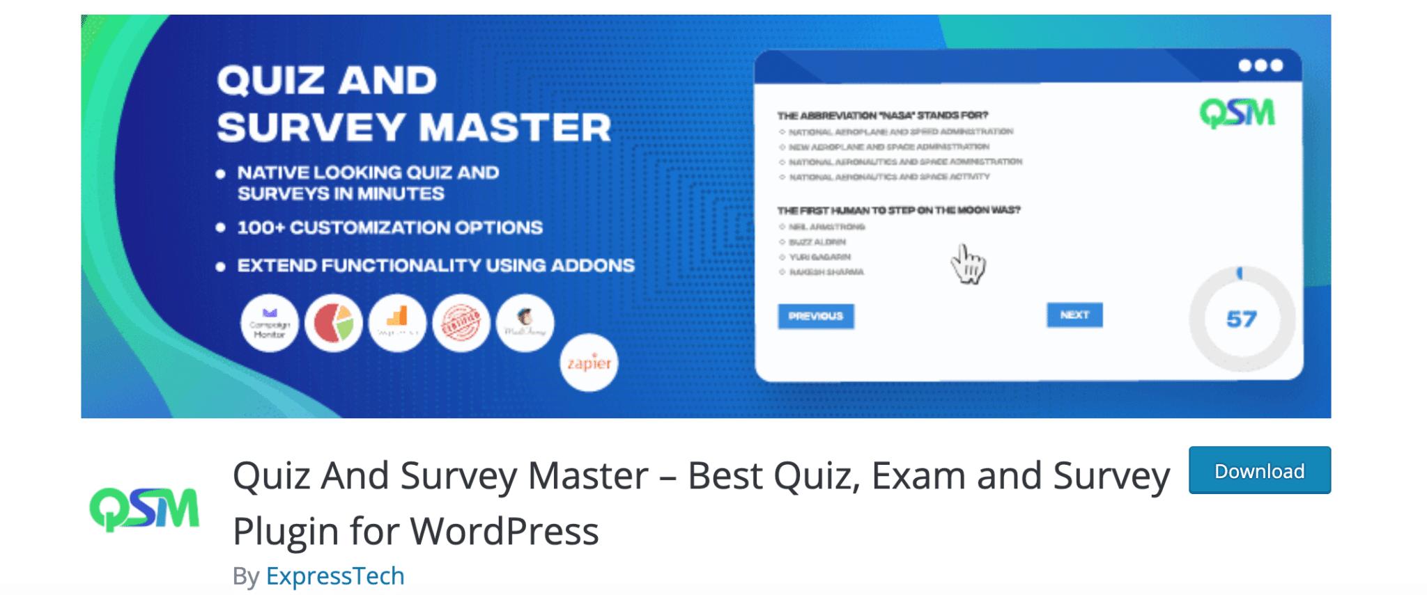Quiz & Survey Master