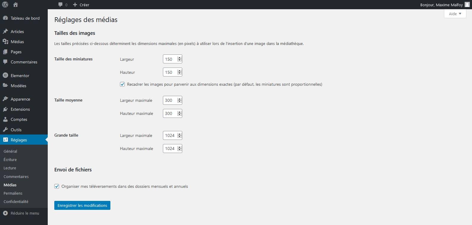 3 tailles d'images customisables sur WordPress