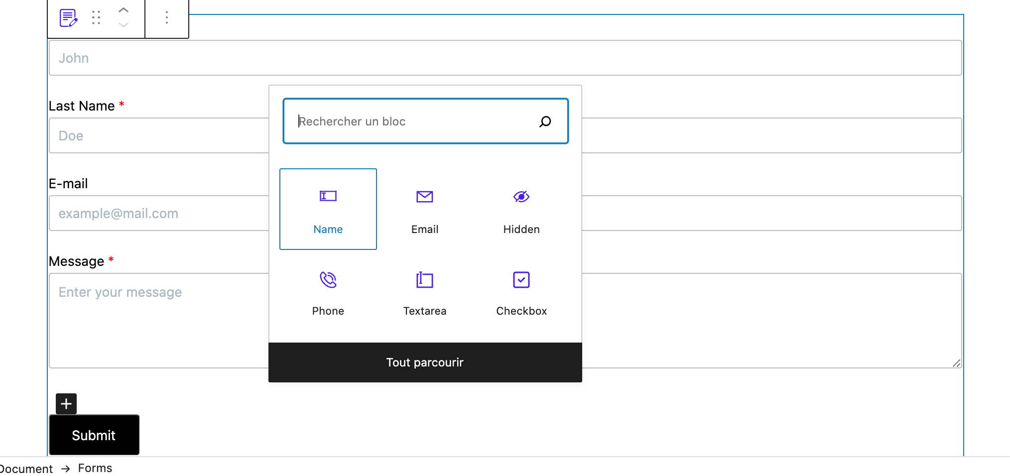 8 simple contact form