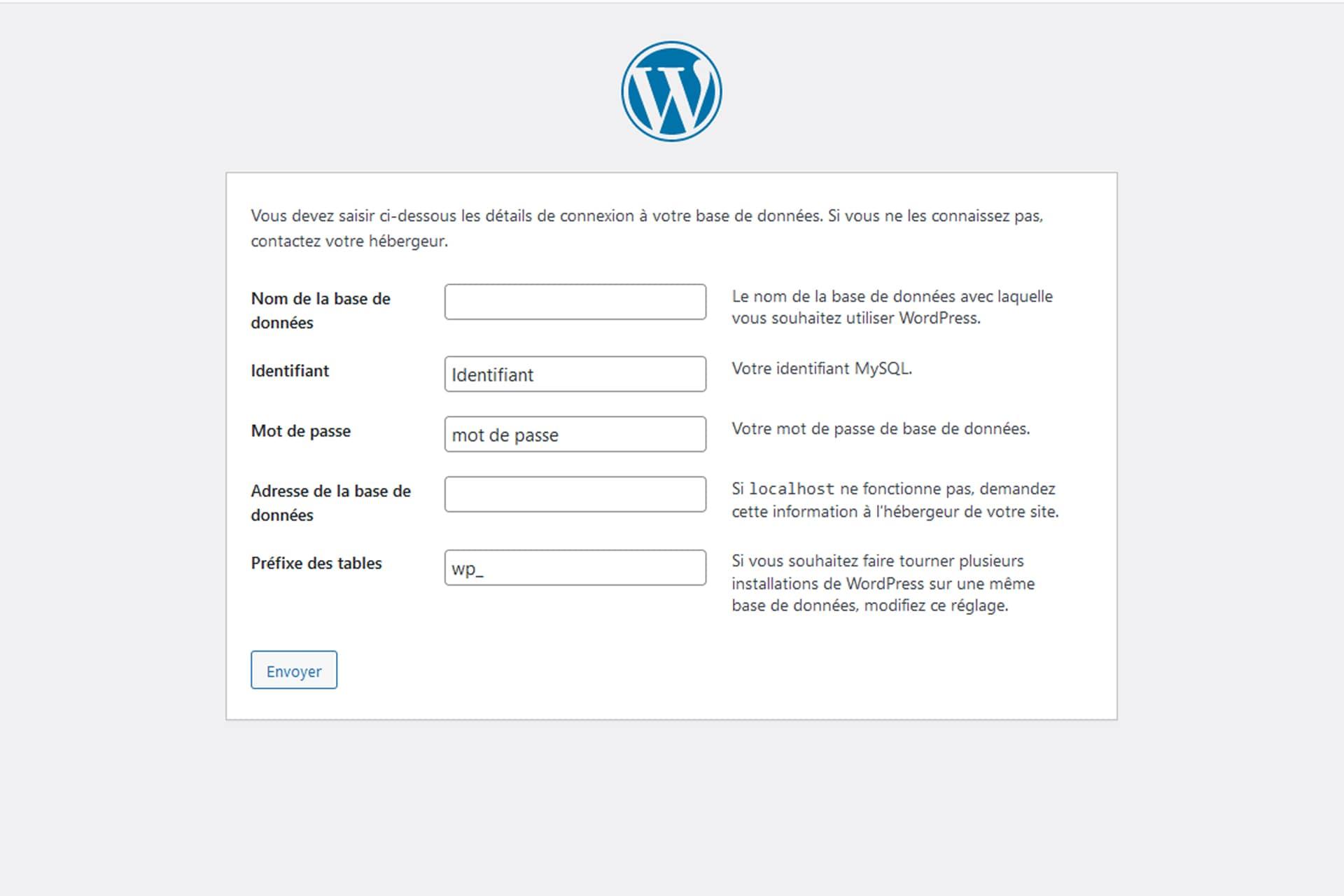 Base de données et installation WordPress