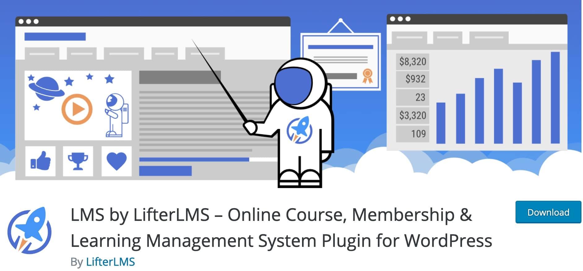 meilleurs plugins lms wordpress vendre cours formation en ligne