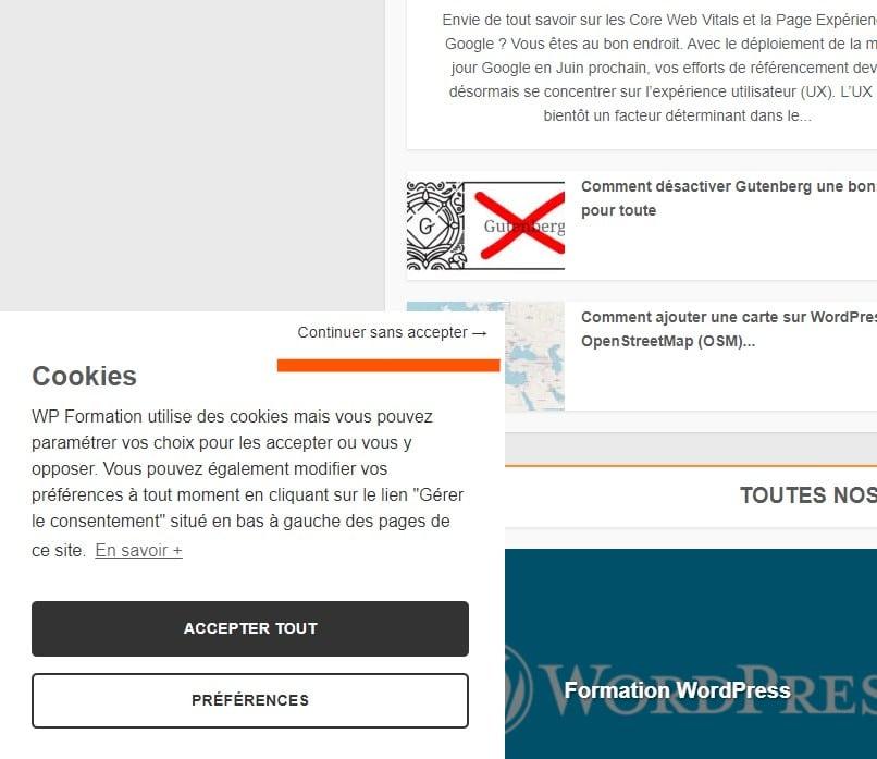 Refuser cookies complianz