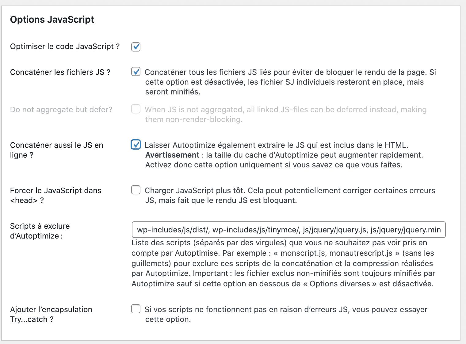 options javascript