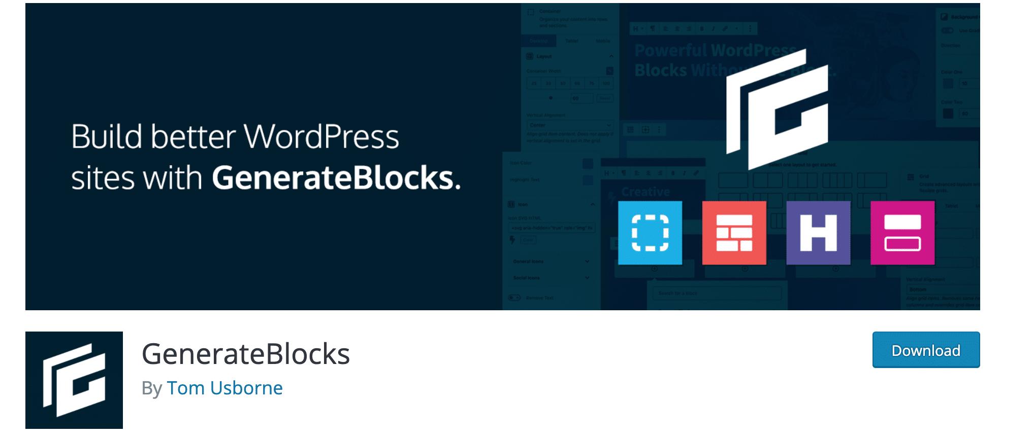 generateblocks wordpress