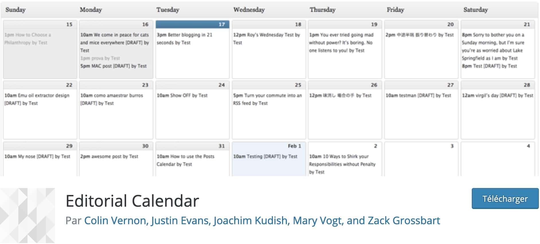 calendriers wordpress meilleurs plugins 10