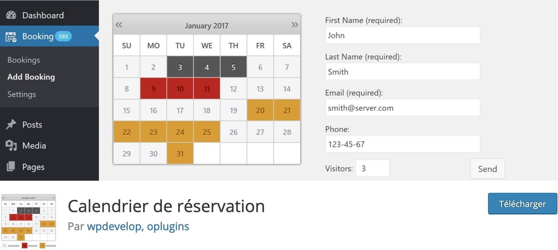 calendriers wordpress meilleurs plugins 7