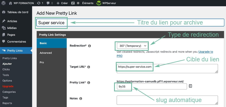 pretty links plugin wordpress 2