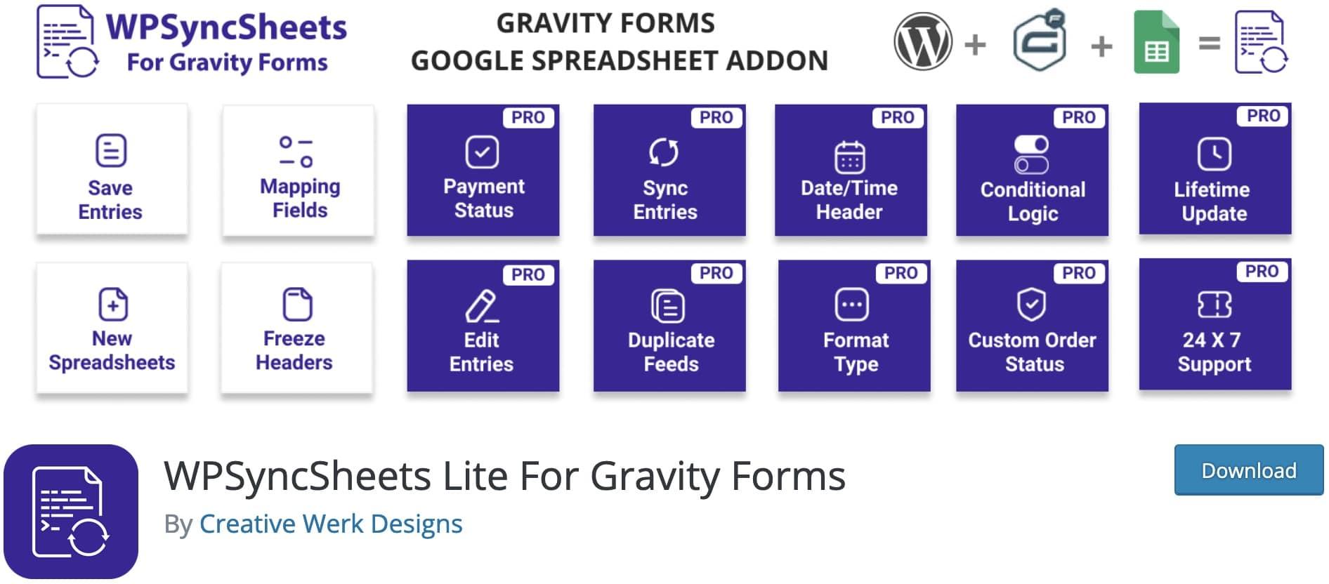 synchroniser gravity form google sheet plugin wordpress 12